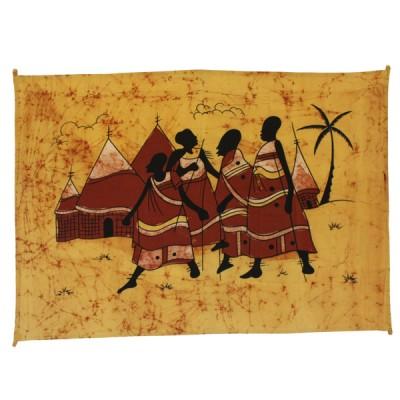 "Tenture batik ""Village""(tpm011/3)"