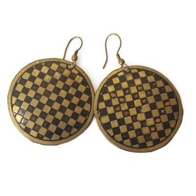 Boucles d'oreilles rondes Indiennes (bineo003/2)