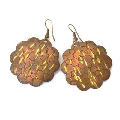 Boucles d'oreilles rondes Indiennes (bineo001/2)