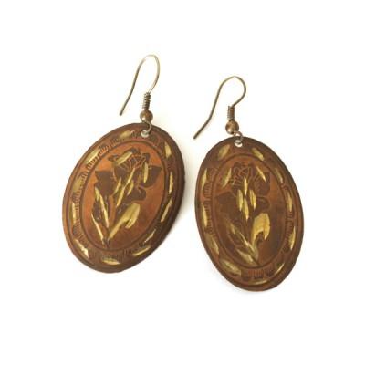 Boucles d'oreilles rondes Indiennes (binea005/2)