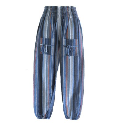 Pantalon Enfant - coton rayé (penf01b)
