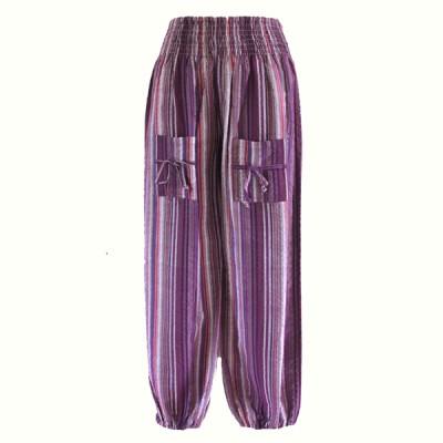 Pantalon Enfant - coton rayé (penf01vl)