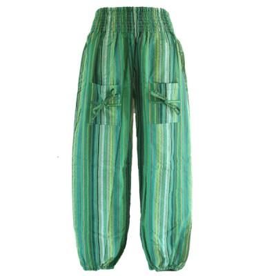Pantalon Enfant - coton rayé (penf01v)