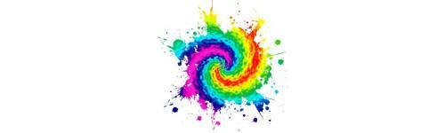 Tentures multicolore