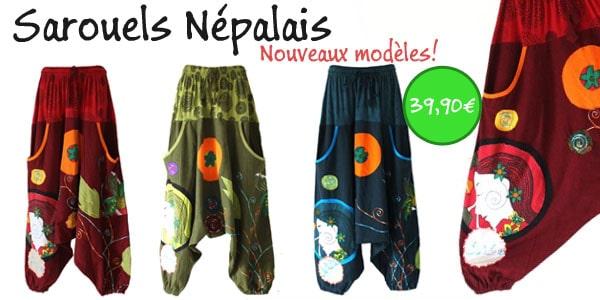 ponchos népalais