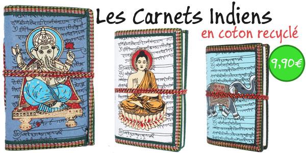 carnets de note indiens