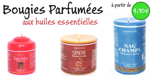 bougies parfumées indiennes