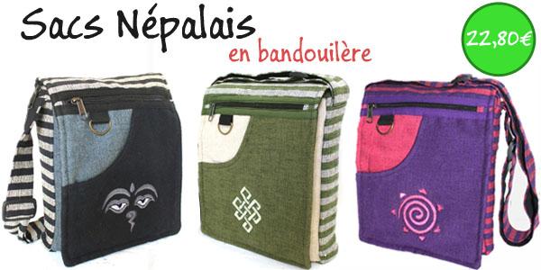 sacs népalais en bandouillère